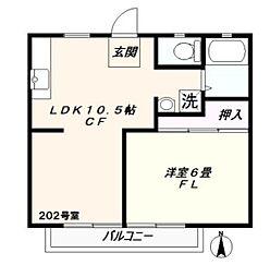 神奈川県横浜市泉区和泉中央北3丁目の賃貸アパートの間取り