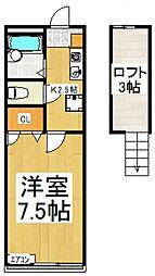 メインシティガーデン ウィステリア[2階]の間取り