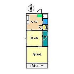 ハイツ寿(葛島)[2階]の間取り