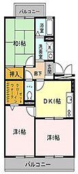 グリーンハイツ本八幡壱番館[2階]の間取り