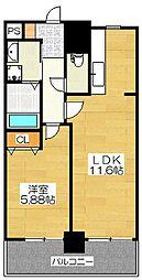 パークサイド博多[4階]の間取り