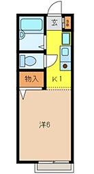 埼玉県さいたま市南区根岸2丁目の賃貸アパートの間取り