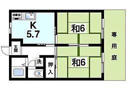 エールオケタニ[1階]の間取り