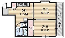 ルナハイム野田[101号室]の間取り