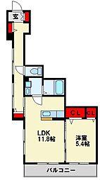京良城フォレスト[1階]の間取り