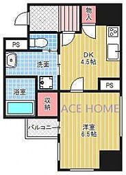 プレサンスNEO心斎橋[505号室号室]の間取り