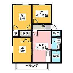 フレグランス水口[2階]の間取り