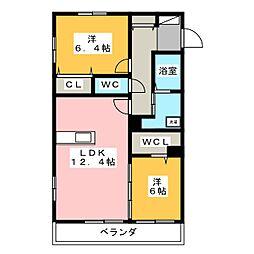 静岡県静岡市清水区木の下町の賃貸マンションの間取り