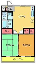 ティーズ・アパートメント[205号室]の間取り