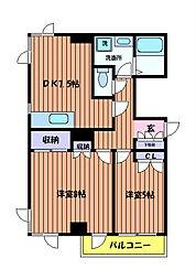 第二アーク山崎[3階]の間取り