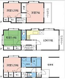 [一戸建] 東京都板橋区東新町1丁目 の賃貸【/】の間取り