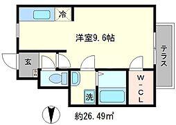 casanoble[1階]の間取り