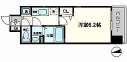 グランカリテ日本橋 9階1Kの間取り