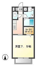 岐阜県可児市土田の賃貸アパートの間取り