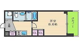エステムプラザ梅田中崎町IIIツインマークス サウスレジデンス[6階]の間取り