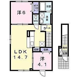 北海道札幌市豊平区月寒東三条19丁目の賃貸アパートの間取り
