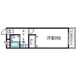 サンウィズ宮田[101号室]の間取り