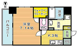 PROTO CITY TOBATA(プロトシティ戸畑)[2階]の間取り