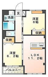 仮)本城新築マンション[6階]の間取り