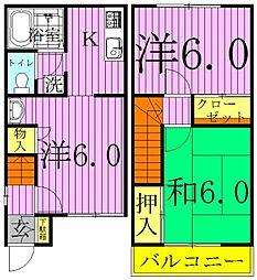 [テラスハウス] 千葉県流山市西初石3丁目 の賃貸【/】の間取り