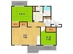 UR中山五月台住宅[4-204号室]の間取り