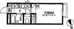 タウンコート・ジュネス千住[2階]の間取り