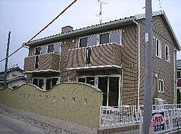 長野県長野市稲里町中氷鉋の賃貸アパートの外観
