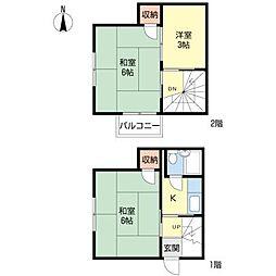 [一戸建] 東京都大田区大森西2丁目 の賃貸【/】の間取り