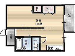 エルパラッツォ京橋[2階]の間取り