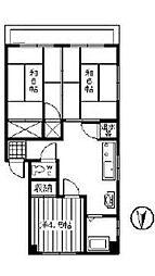 キャニオンマンション第六高島平[404号室]の間取り
