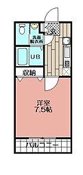 リード桜坂[1005号室]の間取り