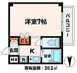 ラトゥール守口二番館[2階]の間取り