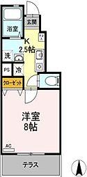 広島県福山市明神町2の賃貸アパートの間取り