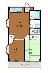 ロイヤル富士見[4階]の間取り