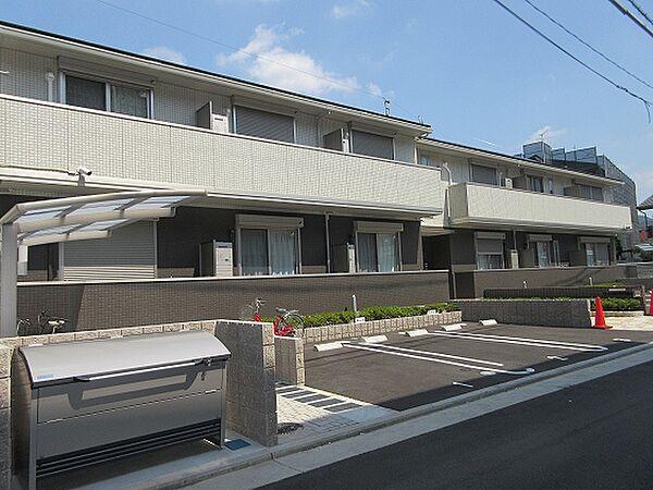 大阪府柏原市国分西2丁目の賃貸アパートの外観