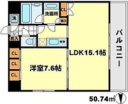 レジディア江坂[10階]の間取り