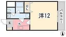 兵庫県揖保郡太子町糸井の賃貸マンションの間取り