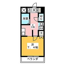 Cozy Court 下池川[2階]の間取り