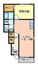 コスモグレイスC[1階]の間取り