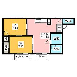 シティハイツ本郷草2[2階]の間取り