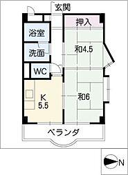 メゾンヤマサ[3階]の間取り