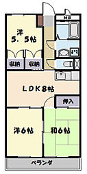 Arc-En-Ciel[406号室]の間取り