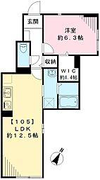 アシステンツァ駒沢公園[105号室号室]の間取り
