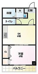パパノエル[4階]の間取り