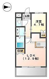 宇土新築マンション[3階]の間取り