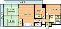 VIVRE黒崎(ヴィブレ黒崎)[4階]の間取り