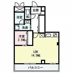 K.bld[4階]の間取り