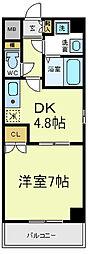 デュレアンジュ[7階]の間取り