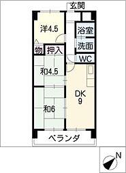 ベルマローネ千竹[4階]の間取り