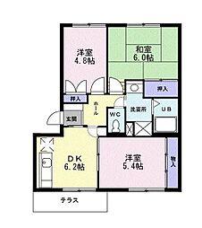 神奈川県茅ヶ崎市円蔵2丁目の賃貸マンションの間取り